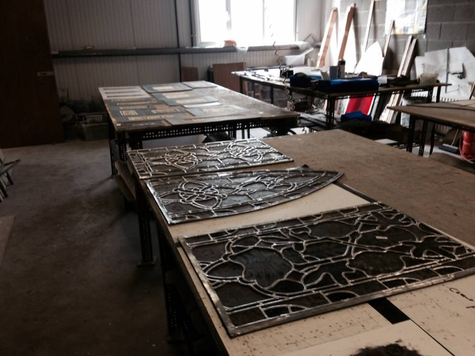 stain glass window frames